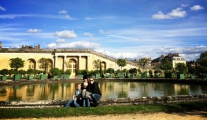 Means Family in Versailles Keryn Means Walking on Travels