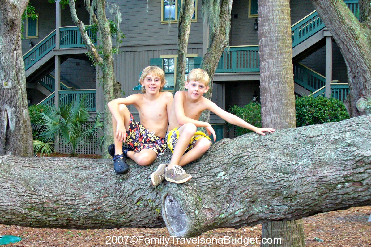 The Dawkins Family in Hilton Head 2007