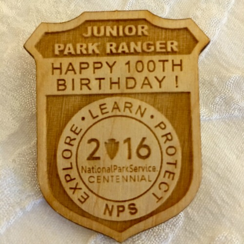 2016 100th anniversary Junior Park Ranger badge
