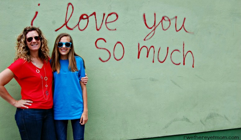 I Love you so much street art in Austin Texas