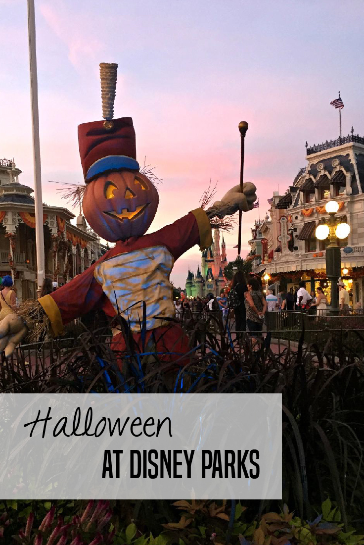 Halloween at Disney Parks - get the inside scoop about Mickey's Not So Scary Halloween party and tips for visiting Walt Disney World and Disneyland for Halloween