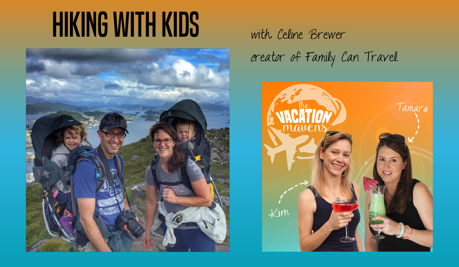 Celine Brewer hiking with kids podcast episode