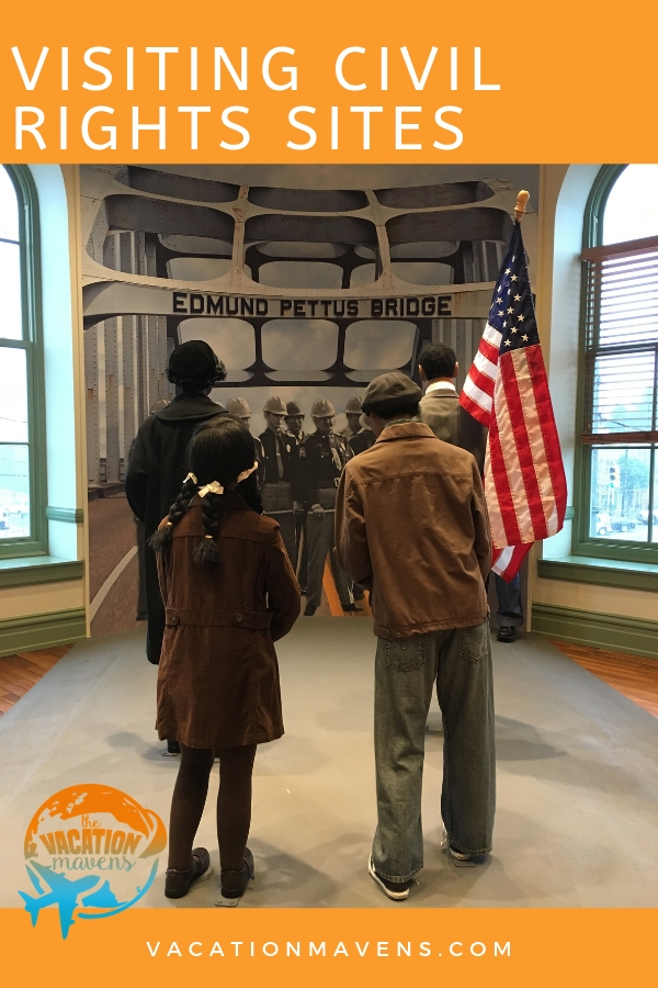 Tips, ideas, and destinations for visiting civil rights sites with kids #civilrights #blackhistorymonth #podcast