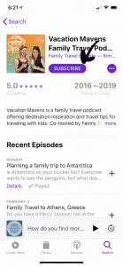 Subscribe to Vacation Mavens in Apple Podcasts