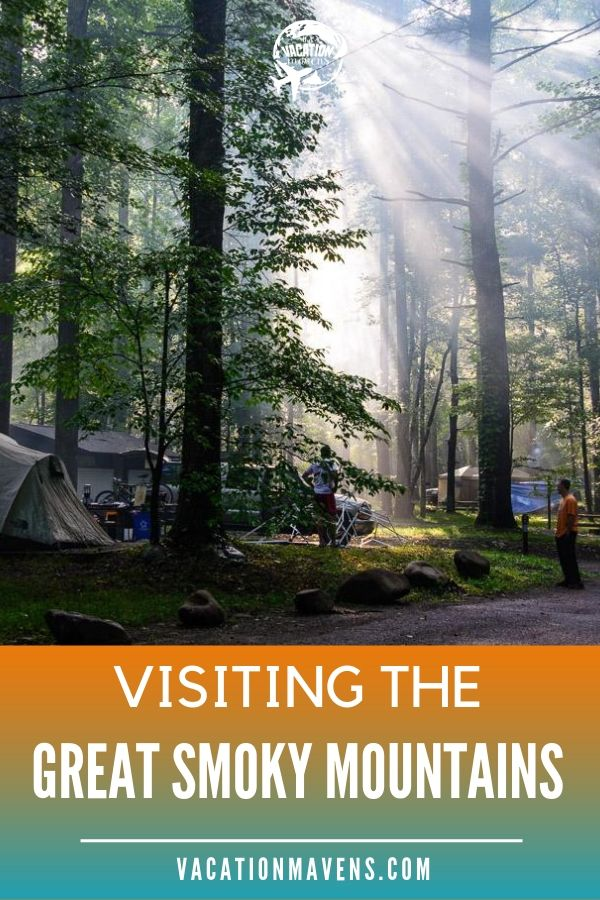 Tips for visiting the Great Smoky Mountains National Park with kids on the Vacation Mavens family travel podcast. #nationalparks #greatsmokymountains #pigeonforge