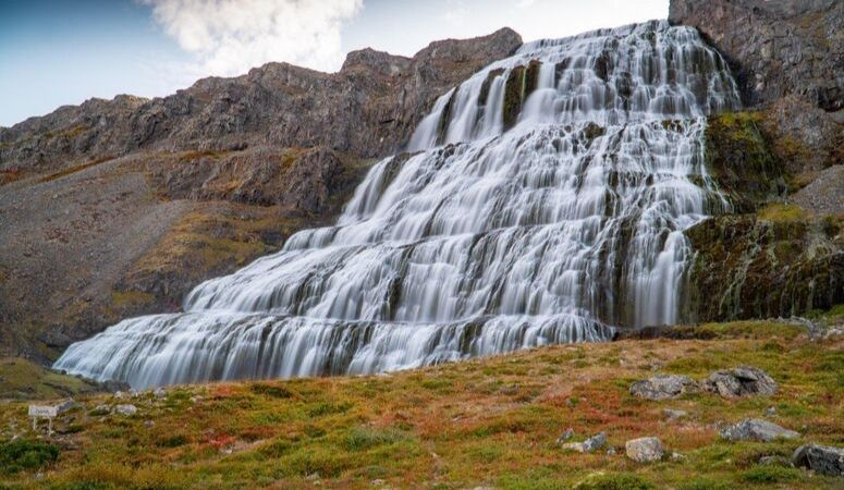 Dynjandi waterfalls in the Westfjords of Iceland