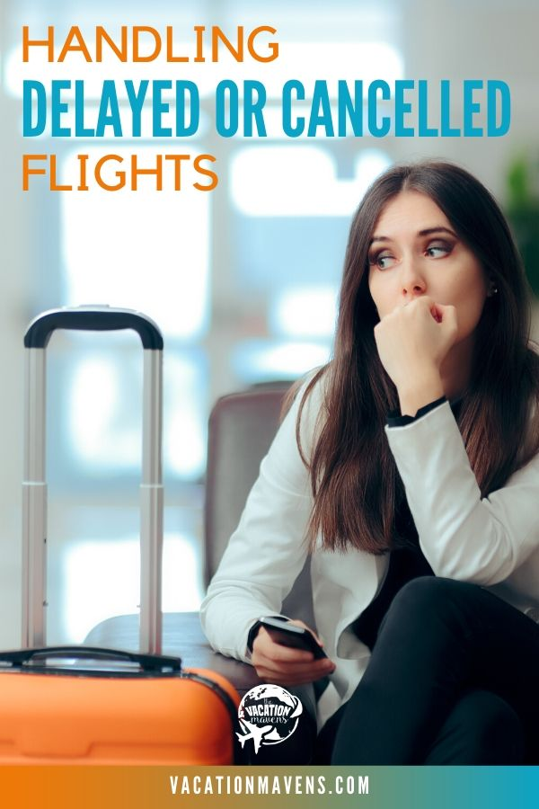 Tips for handling delayed or cancelled flights on the Vacation Mavens podcast