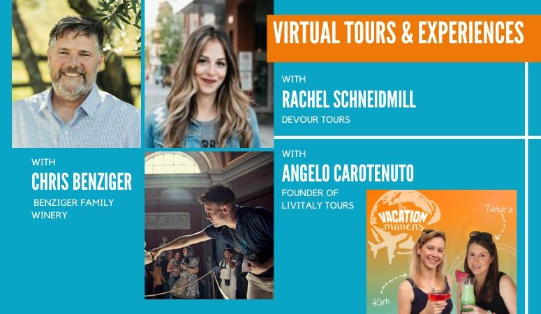 Virtual tours and experiences on Vacation Mavens