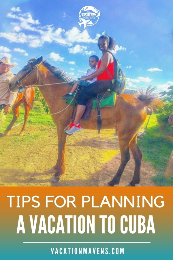 Woman and boy on a horse in Cuba with tips for planning a trip to Cuba